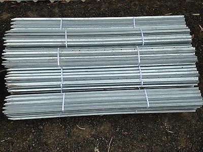 Star Pickets GALVANISED Steel Fence Post 1650mm/165cm 10 pack -2.04Kg/mtr