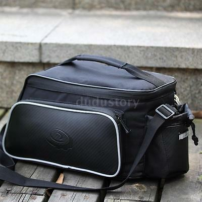 Cycling Bicycle Bike Rear Rack Seat Bag Leather Pouch Outdoor Traveling 10L Q0P4