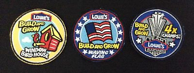"""3 NEW Lowe's Patches 2"""" Diameters"""