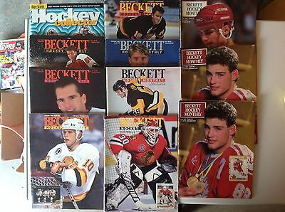 Lot Of 10 Beckett Hockey Card Monthlys, Stars And HOFers On Covers!