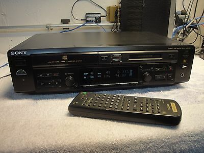 SONY MXD-D40 CD PLAYER COMBO MD MINIDISC RECORDER PLAYER  TESTED  w/ REMOTE !