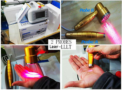 NEW 2 Probes Body Pain Relief/Low Level Laser Therapy LLLT Physical Therapy