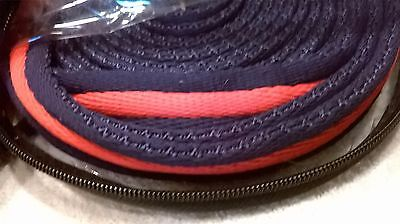 Lunge Rope. Navy / Red. Cushioned Lunge rein. 25 ft.