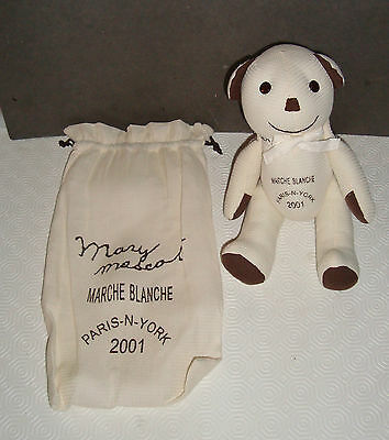 Ours Mary Mascot Marche- Blanche Paris New York 2001 Collection 28 Cm
