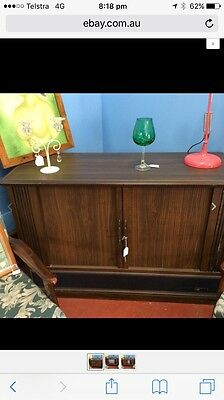 Vintage Retro AWA Thorn Timber cabinet television with sliding doors