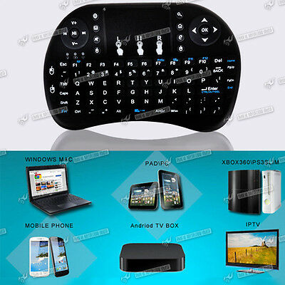 Wireless Air Mouse Qwerty Keyboard Remote Control F. XBMC Box Android TV PC New