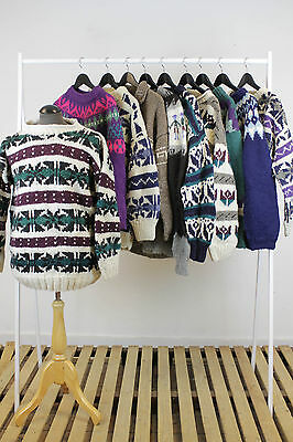 Job Lot Of 10 Vintage Icelandic Style Knits