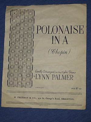 'Polonaise in A' (Chopin) Vintage Sheet Music
