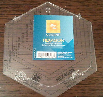 Ez Simplicity Hexagon Shape Template  Patchwork  Quilting Crafting Brand New