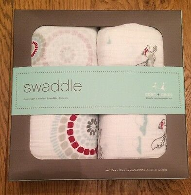 Aden + Anais Boys Liam the Brave Muslin Square Swaddle (Pack of 2) - New In Box