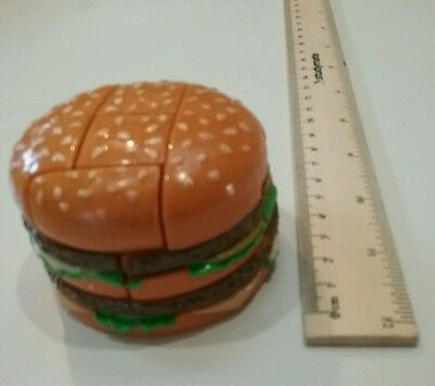 Vintage 1993 Mcdonalds Big Mac hamburger burger toy puzzle figure 1990s