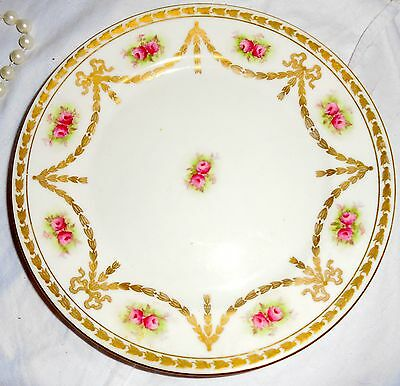 N74  Paragon Fine Bone China Tea Plates Roses and Gilt. By Royal Appt.