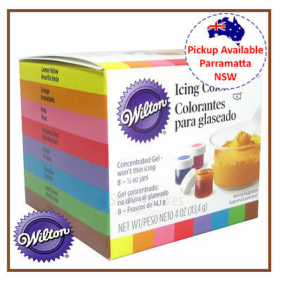 Wilton Cake Decorating Supplies 8 Set Icing Colours Food Colouring Gel Paste