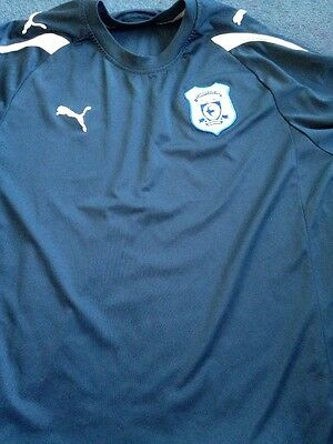 Boys Mens Cardiff City Top Navy Size 32/34