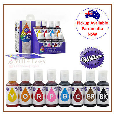 Wilton Colour Right Icing Food Gel Performance Decorating System Cake Fondant