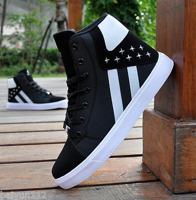 2016 Korean New Fashion Casual Shoes Breathable High-top Sneakers
