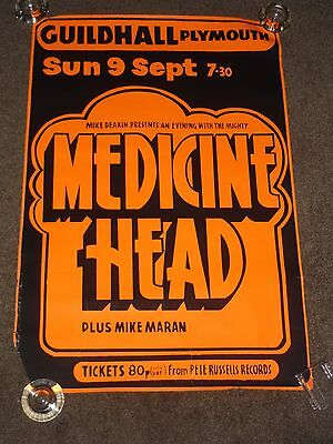 Medicine Head 1973 Plymouth Guildhall Concert Poster