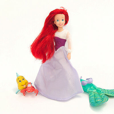 Disney Ariel Little Mermaid Doll + Accessories. TYCO. Rare 90s. V good condition
