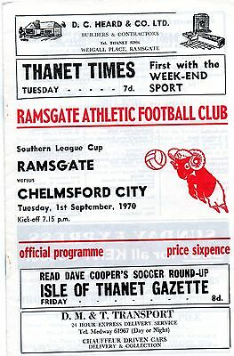 RAMSGATE  v  CHELMSFORD  S.L.CUP  1970-71