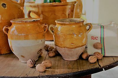 French antique pottery 2confits post great opportunity FREE SHIPPING