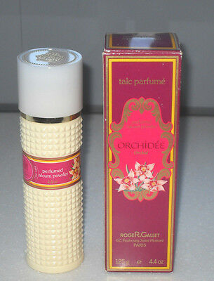 VINTAGE RARE ROGER AND GALLET PARIS ORCHID ORCHIDEE  TALC PARFUM 125g NEW