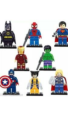 8 PCs Marvel Avengers Super Hero Comic Mini Figures fits Lego UK Seller