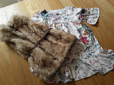 ZARA dress and gillet 4 years