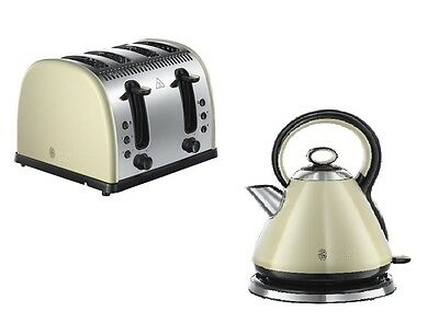 Russell Hobbs Legacy Kettle And 4 Slice Toaster Set In Cream