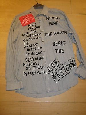 seditionaries NEVER MIND THE BOLLOCKS SEX PISTOLS WITH SONGS  SHIRT SEX PISTOLS