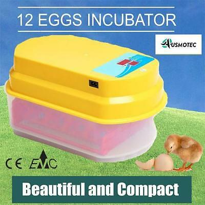Premium 12 Egg Incubator Fully Automatic Chicken Quail Duck Digital Turning Led