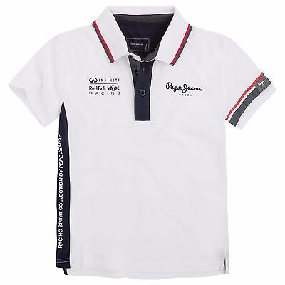 Kids Junior Size 14 Infiniti Red Bull Racing Brake Polo Shirt by Pepe Jeans M1