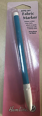 Hemline Blue Wipe Off/Wash Out Fabric Marker Pen~ Superfast Sameday Despatch