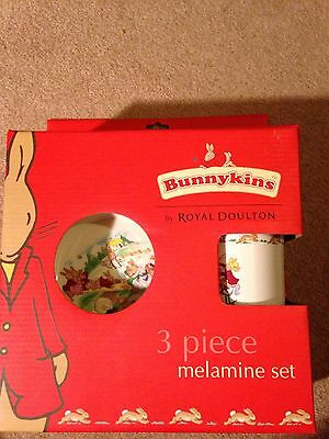 Brand New In Box Royal Doulton 3 Piece Melamine Set £20