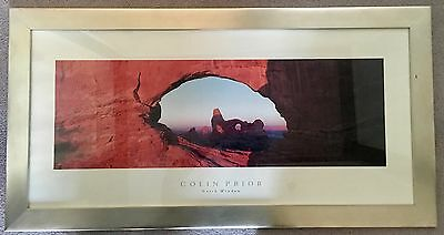 """Colin Prior Framed Print """"North Window"""" Large 43x22 Inches"""