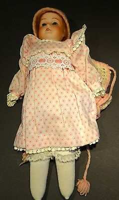 """Bisque Head Leather Body Jointed 12"""" MABEL Doll Germany 15/0 Glass Eyes"""