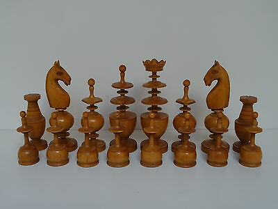 Antique Wooden Chess Set