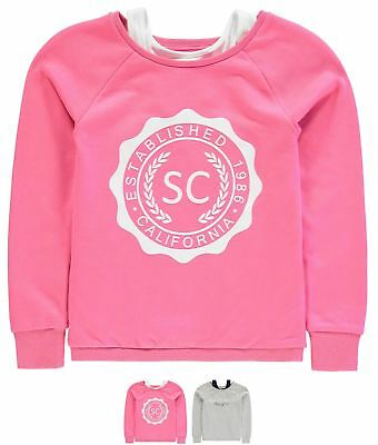 OCCASIONE SoulCal Double Layer Sweater Junior Girls Grey Marl
