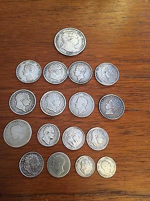 Collection Of George ll & George lll Silver Coins