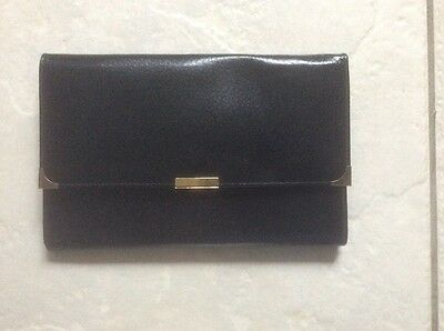 black leather travel document wallet