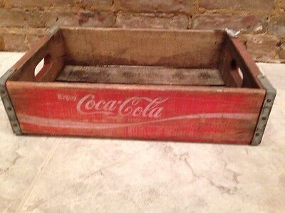 Vintage Red Coca-Cola Coke Wooden Wood Crate Box
