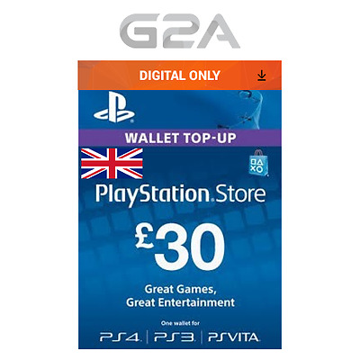 Playstation Network £30 Pounds - 30 GBP Store Card Key / PS4 PS3 PSP PSN – UK