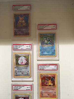Pokémon Complete Shadowless Holographic Cards 1-16 PSA Charizard