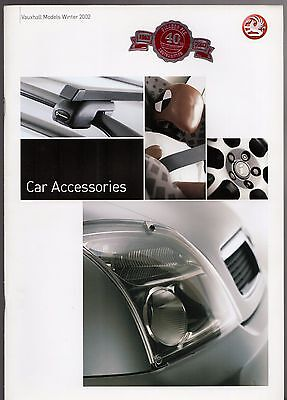 Vauxhall Accessories 2002-03 UK Market Brochure Corsa Astra Zafira Vectra Omega