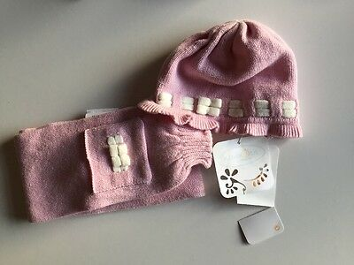 Mayoral Baby Pink Hat And Scarf Set Age 2 Month BNWT