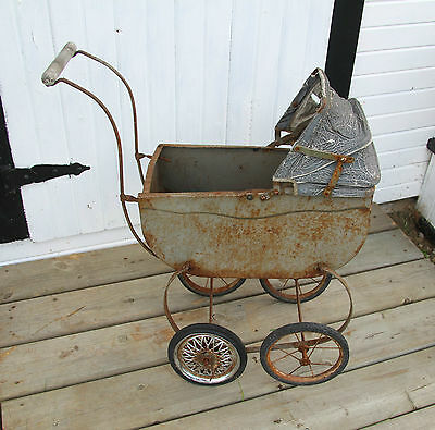 Antique Vintage Baby carriage rusty rustic photographer prop baby pictures