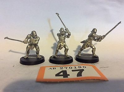 Warhammer fantasy METAL LOTR Lord of the rings 3x Uruk Hai bezerkers  #047o