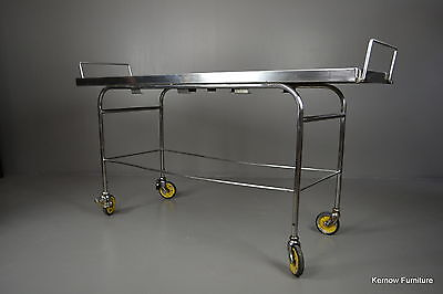 Mid Century Stainless Steel Mortuary Autopsy Embalming Hospital Industrial Table