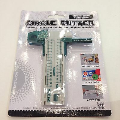 Circle Compass Cutter diameters of 12mm to 300mm for cutting paper vinyl photo