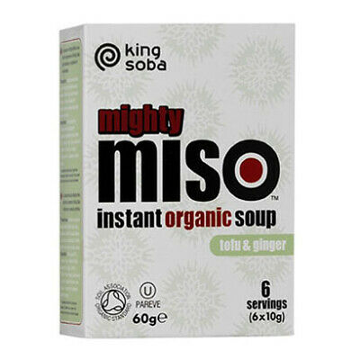 Organic Miso Soup with Tofu & Ginger - 6x10g