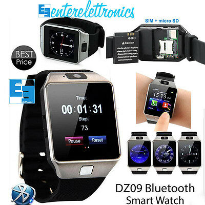 SMART WATCH Dz09 Fotocamera Bluetooth 0.3mp Orologio da polso Smart Phone